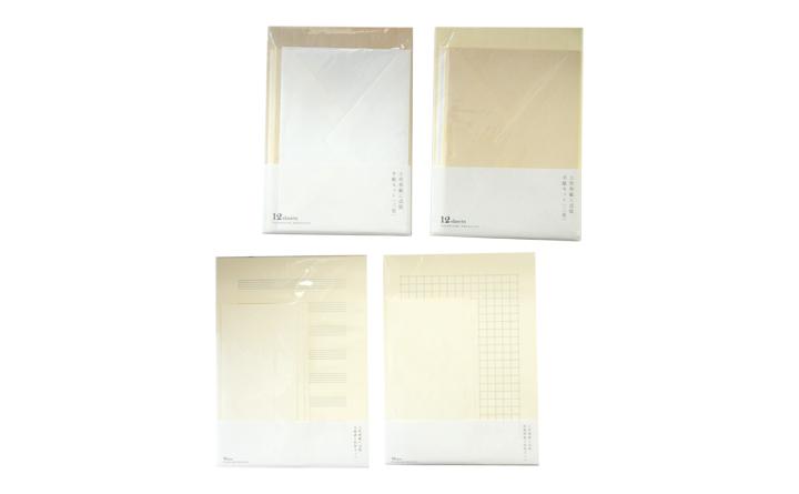 土佐和紙に活版 原稿用紙と封筒セット /手紙セット